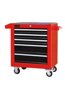 Hong Yu Ruiye Roller Cabinet 5 Drawers JS37 (Black/Red)