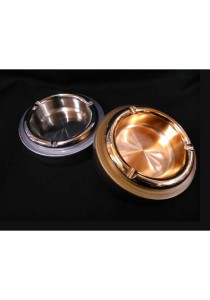 KSP Round Ashtray with Plated Silver