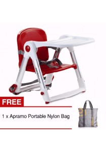 Apramo Flippa Foldable Lightweight Portable Multifunctional Dining Booster (Red)