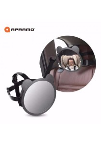 Apramo Adjustable Baby Car Seat Mirror With Ears & Child Safety Parent Large Viewing Area