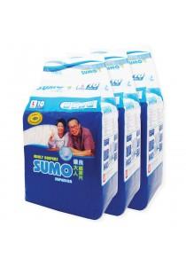 Sumo Adult Diaper L 10´s x 3 packs (Cloth-feel & Anti-bacteria)