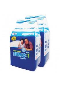 Sumo Adult Diaper L 10´s x 2 packs (Cloth-feel & Anti-bacteria)