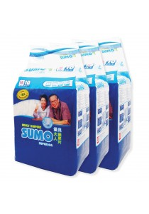 Sumo Adult Diaper M 10´s x 3 packs (Cloth-feel & Anti-bacteria)