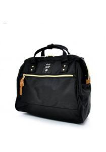 100% Authentic Anello (Regular) Polyester Shoulder Handbag (Black)