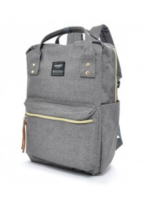 100 % Authentic Anello Square Backpack (Grey)