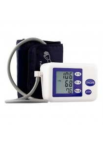 LCD Digital Upper Arm Blood Pressure and Heart Beat Automatic Monitor Meter