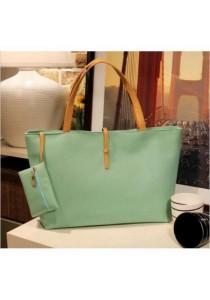 Fashion Women Shoulder Tote Bag (Tiffany Blue)