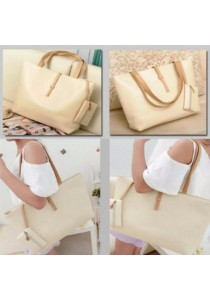 Fashion Women Shoulder Tote Bag (White)