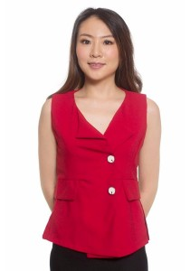 Ladies Room Sleeveless Vest Blouse - Red M / L