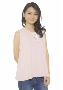 Ladies Room Cotton Flare Top - Pink