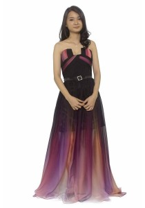 Ladies Room Galaxy Strapless Inspired Dinner Dress
