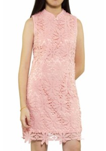 Ladies Room Fitted Cheongsam - Light Pink