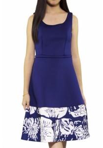 Ladies Room Flower Print Midi Dress
