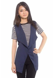Ladies Room Casual Chiffon Sweaters - Blue