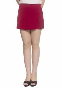 Ladies Room Skirt Pant Shorts - Red