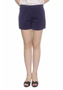 Ladies Room Cotton Side Pocket Shorts - Blue