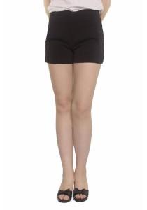 Ladies Room Cotton Side Pocket Shorts - Black