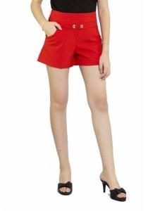 Ladies Room Korean Short Pants - Orange