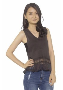 Ladies Room Knit Top - Grey