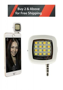 Portable Mini 16 LED Dimmable Light For Smartphone/Tablet