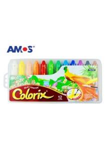 AMOS Colorix Washable Silky Crayon (12 Colors)