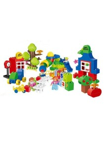 Learning Planet 106 pcs Lego Duplo Compatible Building Blocks