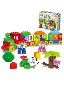 Learning Planet 57 pcs Lego Duplo Compatible Building Blocks