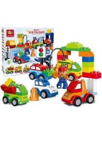 Learning Planet 52 pcs Lego Duplo Compatible Building Blocks