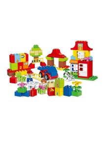 Learning Planet 115 pcs Lego Duplo Compatible Building Blocks