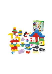 Learning Planet 66 pcs Lego Duplo Compatible Building Blocks