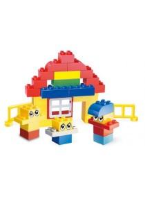 Learning Planet 123 pcs Lego Duplo Compatible Building Blocks