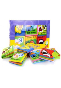 Set of 6 Soft Play Baby Infant safe cute Educational Cloth Books (My First Picture Books)