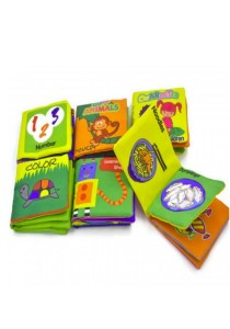 Fabric Baby Teaching Books 6 Pcs