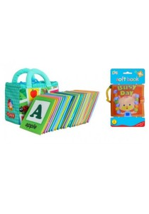Educational Baby Cloth Book Learning ABC & Busy Day Cloth Book 2 in 1 Bundle