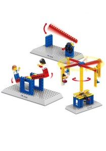 Learning Planet 76 pcs Lego Compatible Building Blocks (Merry-Go-Round / Seesaw / Vehicle Barrier Bar)