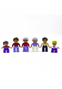 Learning Planet Lego Duplo Compatible Family Members Figures Set (6 pcs)