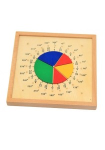 Learning Planet Montessori Mathematical Fraction Board