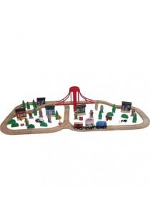 Imaginarium 70 pcs Wooden Train Set