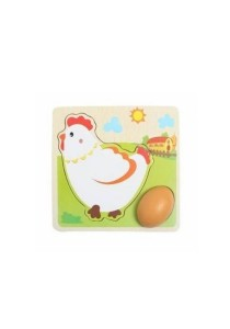 Multiple Layer Chicken Egg Children Wooden Puzzle