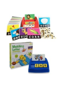 Learning Planet Literacy Fun Game & Matching Letter Game 2 in 1 Bundle