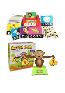 Learning Planet Literacy Fun Game & Monkey Banana Counting Game 2 in 1 Bundle