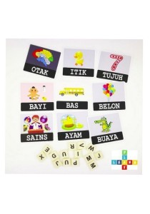 PlayNLearn Malay Ejaan Cards (Compatible with English Spelling Game Base Plate)
