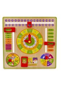 Montessori Wooden Calendar Clock