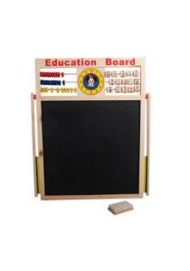 2-In-1 Black Board & White Board Wooden Easel