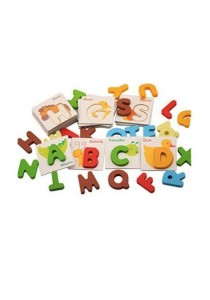 Alphabet A-Z British Learning Card wooden Educational toys age 3+