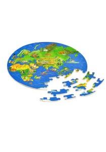 Goki Wooden Globe Puzzle (World Atlas Puzzle) 57 pcs
