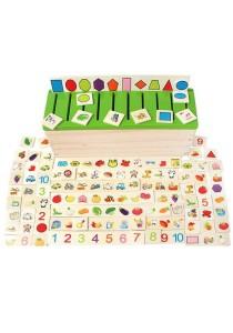 Montessori Teaching Aids Wooden Sorting Box Kids Children Educational Toy