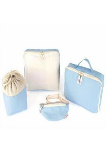 Baby & Mom 4-pieces Travel Organizer Diaper Bag (Blue)