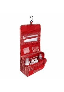 Travel Toiletry Cosmetic Hanging Bag Storage High Quality (Classic Red)