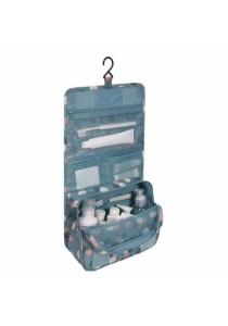 Travel Toiletry Cosmetic Hanging Bag Storage High Quality (Daisy Mint)